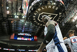 August 17, 2018 - Dallas, TX, U.S. - DALLAS, TX - AUGUST 17: Tri-State Jermaine O'Neal #7 yells at the fans after a foul during the Big 3 Basketball playoff game between the Power and the Tri-State on August 17, 2018 at the American Airlines Center in Dallas, Texas. Power defeats Tri-State 51-49. (Photo by Matthew Pearce/Icon Sportswire) (Credit Image: © Matthew Pearce/Icon SMI via ZUMA Press)