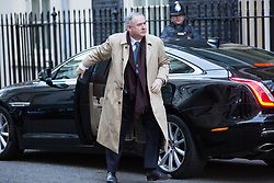 London, UK. 8th January, 2019. Geoffrey Cox QC MP, Attorney General, arrives at 10 Downing Street for the first Cabinet meeting since the Christmas recess.