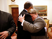 2/12/13 6:58:50 AM -- Washington, DC, U.S.A<br />  -- Speaker of the House John Boehner gives a big hug to his special guest Teddy Kremer of White Oak during a private meeting prior to President Barack Obama delivering the State of the Union address to a joint session of the United States Congress in the House chamber of the U.S. Capitol. The Enquirer/Jeff Swinger