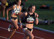 May 16, 2019; Los Angeles, CA, CA, USA; Maite Bouchard runs in a women's 800m heat during the USATF Distance Classic at Occidental College.
