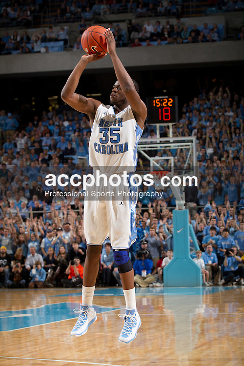 CHAPEL HILL, NC - JANUARY 18: Reggie Bullock #35 of the North Carolina Tar Heels shoots the ball while playing the Clemson Tigers on January 18, 2011 at the Dean E. Smith Center in Chapel Hill, North Carolina. North Carolina won 65-75. (Photo by Peyton Williams/UNC/Getty Images) *** Local Caption *** Reggie Bullock