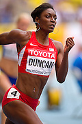 Kimberlyn Duncan from USA competes in women's 200 meters qualification during the 14th IAAF World Athletics Championships at the Luzhniki stadium in Moscow on August 15, 2013.<br /> <br /> Russian Federation, Moscow, August 15, 2013<br /> <br /> Picture also available in RAW (NEF) or TIFF format on special request.<br /> <br /> For editorial use only. Any commercial or promotional use requires permission.<br /> <br /> Mandatory credit:<br /> Photo by &copy; Adam Nurkiewicz / Mediasport