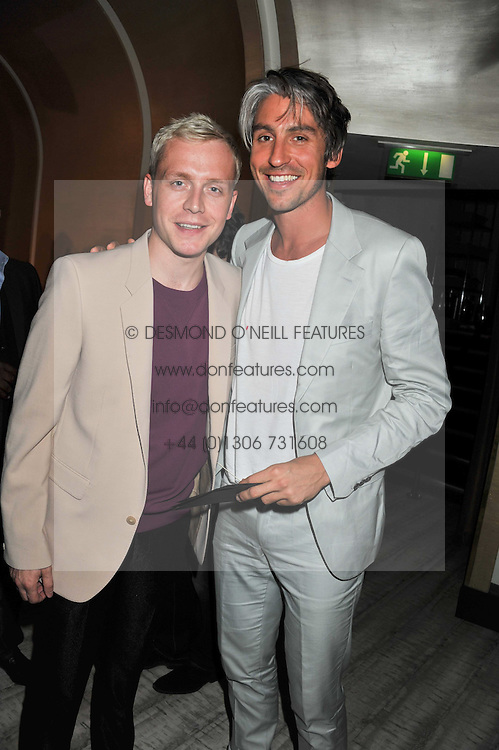 Left to right, MR HUDSON and GEORGE LAMB at a party to launch PRPS's new luxury denim line called Noir whilst raising money for UNICEF Japan, held at Nobu Berkeley Street, London on 5th September 2011.
