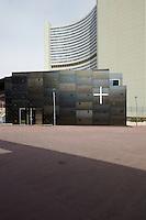 Donau City Kirche, Wien.Architektur: Heinz Tesar