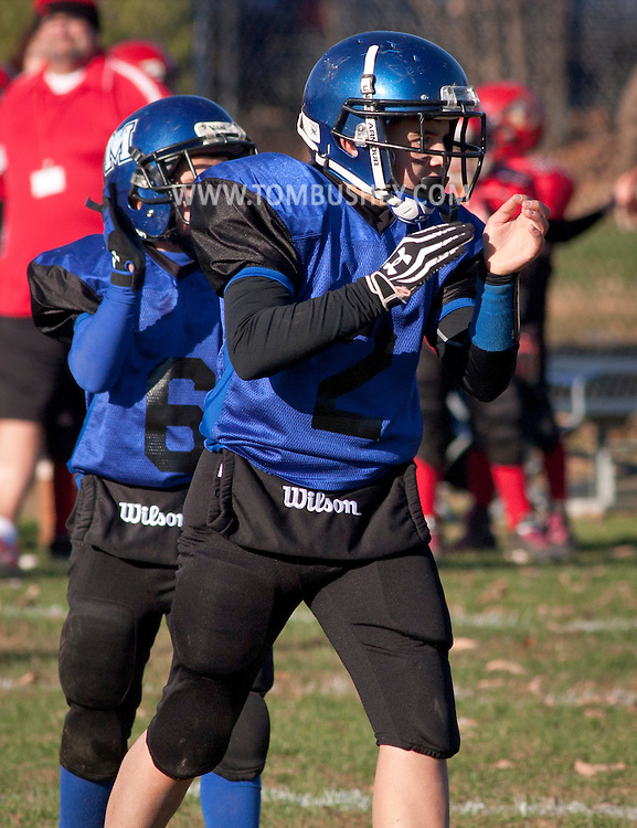 Middletown, New York - Middletown plays Port Jervis in an Orange County Youth Football League Division II semifinal playoff game at Watts Park on  Nov. 15, 2014.