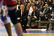 Coach Valery Demory of Lyon during the Women's French Championship Basketball match between Lyon Asvel Feminin and USO Mondeville on January 26, 2018 at Palais des Sports de Gerland in Lyon, France - Photo Romain Biard / ISports / ProSportsImages / DPPI