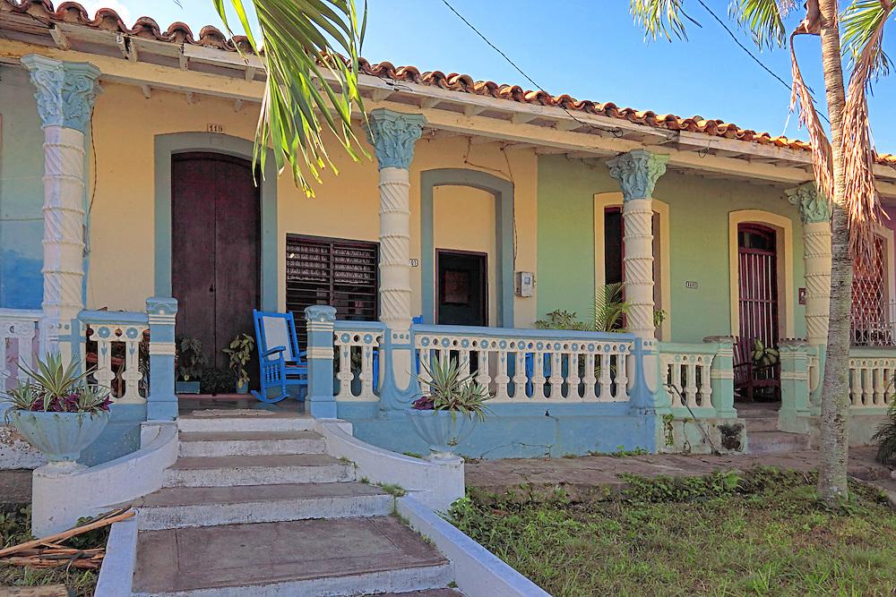 Houses in Consolacion del Sur, Pinar del Rio Province, Cuba.