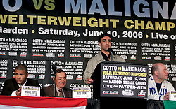 Paulie Malignaggi at the press conference announcing his upcoming fight June 10, 2006 at Madison Square Garden.  Malignaggi will challenge Miguel Cotto for Cotto's WBO Jr. Welterweight Championship.