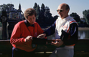 Hammersmith, LONDON, left, Penny Chuter and Mike Spracklen, discuss,  outside the ARA HQ., The Mall, Hammersmith, London W5. UNITED KINGDOM, Photo, Peter Spurrier/Intersport Images..[Mandatory Credit Peter Spurrier/ Intersport Images]