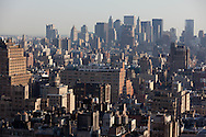 New York. elevated view on manhattan midtown.  lower Manhattan  skyline  /  le panorama du bas de Manhattan;