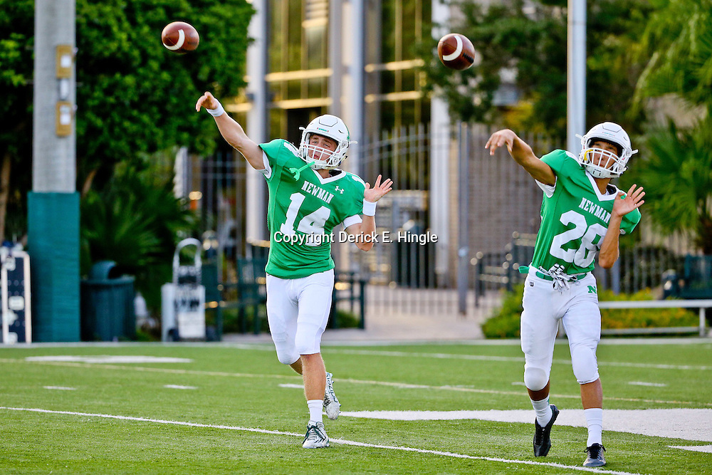 Sep 4, 2015; New Orleans, LA, USA; McMain vs Newman during a game at Newman High School. Photo by: Derick E. Hingle