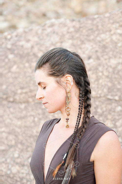 Profile of a natural woman with closed eyes in noble posture. Elise Kost Jewelry.<br /> :::::::::::::::::::::::::::::::::::::::::::::::::::::::::::::::::::::<br /> &ldquo;The core task of the shamanist is to dream her world into being. Otherwise, she has to settle for the collective nightmare that is being dreamt by others.&rdquo;<br /> Alberto Villoldo