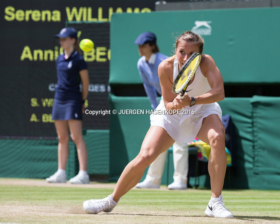 ANNIKA BECK (GER)<br /> <br /> Tennis - Wimbledon 2016 - Grand Slam ITF / ATP / WTA -  AELTC - London -  - Great Britain  - 3 July 2016.