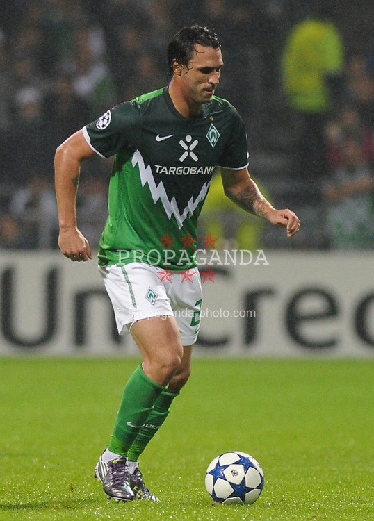 14.09.2010, Weserstadion, Bremen, GER, UEFA CL Gruppe A, Werder Bremen (GER) vs Tottenham Hotspur (UK), im Bild Hugo Almeida (Bremen #23)   EXPA Pictures © 2010, PhotoCredit: EXPA/ nph/  Frisch+++++ ATTENTION - OUT OF GER +++++