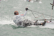 Race eight of the A Class World championships regatta being sailed at Takapuna in Auckland. 15/2/2014