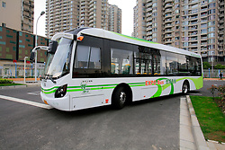 CHINA PUDONG DISTRICT SHANGHAI 23MAY10 - Low-carbon buses running on Hydrogen fuel-cell technology at the Expo 2010 in Shanghai, China...jre/Photo by Jiri Rezac..© Jiri Rezac 2010