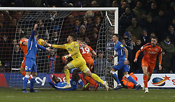Aaron Chapman of Peterborough United makes a save against Luton Town - Mandatory by-line: Joe Dent/JMP - 19/01/2019 - FOOTBALL - Kenilworth Road - Luton, England - Luton Town v Peterborough United - Sky Bet League One