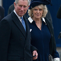 London Feb 24   Prince Charles and Camilla during the unveiling of the Queen Mother Statue on The Mall on Feb 24 2009...***Standard Licence  Fee's Apply To All Image Use***.Marco Secchi /Xianpix. tel +44 (0) 845 050 6211. e-mail ms@msecchi.com or sales@xianpix.com.www.marcosecchi.com