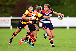 Lucy Attwood of Bristol Ladies is tackled by Tess Braunerova of Richmond ladies - Mandatory by-line: Craig Thomas/JMP - 17/09/2017 - Rugby - Cleve Rugby Ground  - Bristol, England - Bristol Ladies  v Richmond Ladies - Women's Premier 15s