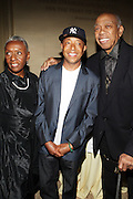 l to r: Bethann Hardison, Russell Simmons and Jeffery Holder at ' The Celebrating Fashion ' A Gala Benefit to support the Gordon Parks Foundation held at Gotham Hall on June 2, 2009 in New York City. ..The Gordon Parks Foundation-- created to preserve the work of groundbreaking African American Photographer and honor others who have dedicated their lives to the Arts--presents the Gordon Parks Award to four Artists who embody the principals Parks championed in his life.