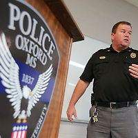 Oxford Cpt. Alan Ivy holds an active shooter class to teach citizens what to do in the event they find themselves in a situation where there is an active shooter present and how to change the way a person should treat any everyday enviroment.