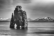 Hvitserkur is a basalt stack near the shore at Vatnsnes.