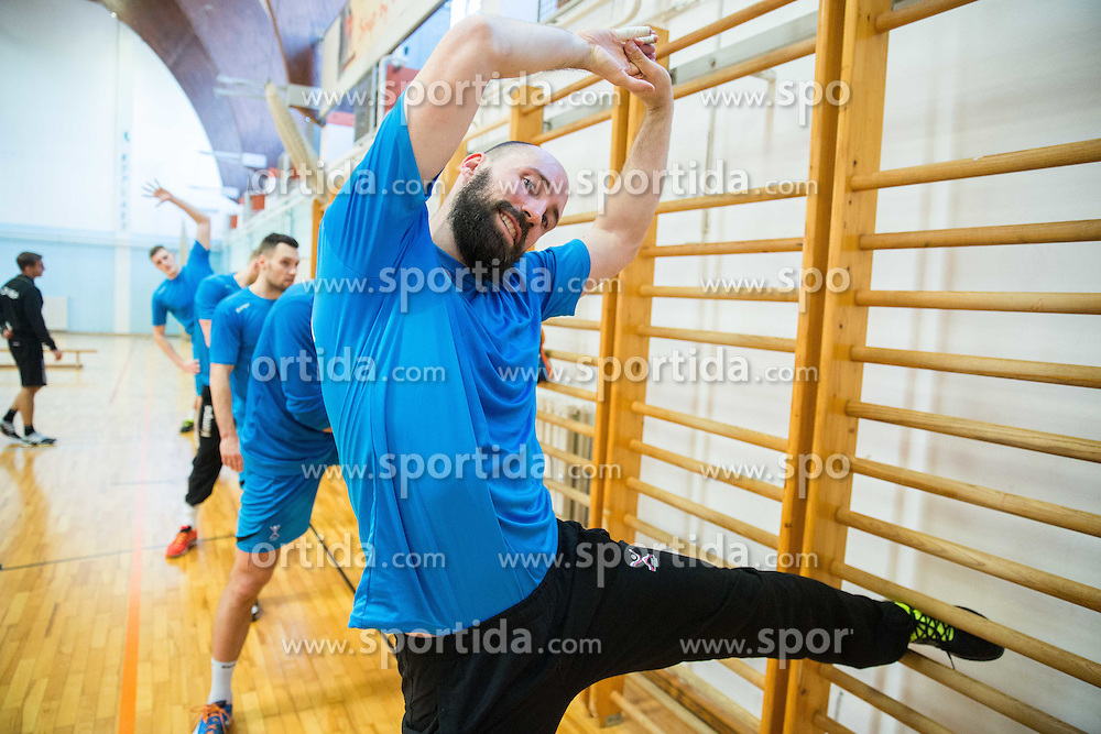 Vid Kavticnik during practice session of Slovenian National Handball Men team at training camp before EHF European Championship Poland 2016, on December 23, 2015 in Slovenske Konjice, Slovenia. Photo by Vid Ponikvar / Sportida
