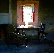 Garrarus County Waterford. Mikey Mac's house exactly as he left it. <br /> <br /> To buy, 95 Euros unframed, numbered and signed print, centred on A2 (Large) paper, includes postage, contact me directly.<br /> <br /> Limited edition 200