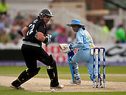 Mithali Raj past wicket keeper Rachel Priest during the ICC Women's World Twenty20 Cup semi-final between New Zealand and India at Trent Bridge. Photo © Graham Morris (Tel: +44(0)20 8969 4192 Email: sales@cricketpix.com)