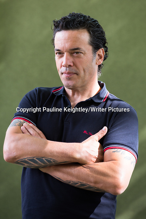 Joseph Boyden, Canadian novelist, gave a talk on his book The Orenda, at the Edinburgh International book festival 2014. 21st August 2014.<br /> <br /> Pic by Pauline Keightley/Writer Pictures