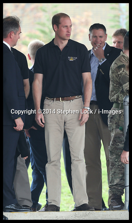 Image licensed to i-Images Picture Agency. 11/09/2014. London, United Kingdom. The Duke of Cambridge  arriving to watch a Drumhead Service  at the athletics competition on day one of the Invictus Games in London. Picture by Stephen Lock / i-Images