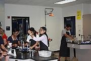 Westside High School students in science lab, October 8, 2014.