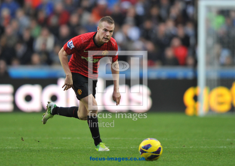 Picture by Daniel Hambury/Focus Images Ltd +44 7813 022858.23/12/2012.Tom Cleverly of Manchester United during the Barclays Premier League match at the Liberty Stadium, Swansea.