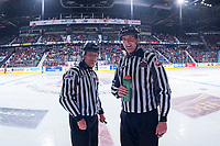 REGINA, SK - MAY 22: Linesmen at the Brandt Centre on May 22, 2018 in Regina, Canada. (Photo by Marissa Baecker/CHL Images)