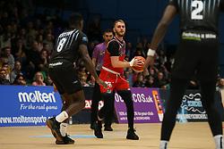 Jordan Nicholls of Bristol Flyers in possesion - Photo mandatory by-line: Arron Gent/JMP - 07/12/2019 - BASKETBALL - Surrey Sports Park - Guildford, England - Surrey Scorchers v Bristol Flyers - British Basketball League Championship