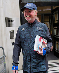 © Licensed to London News Pictures. 19/07/2017. London, UK. Radio DJ CHRIS EVANS seen leaving BBC Broadcasting House in London where the BBC annual report is due to be published later this morning. The BBC is set to reveal for the first time the salaries of stars earning more than £150,000. Photo credit: Ben Cawthra/LNP