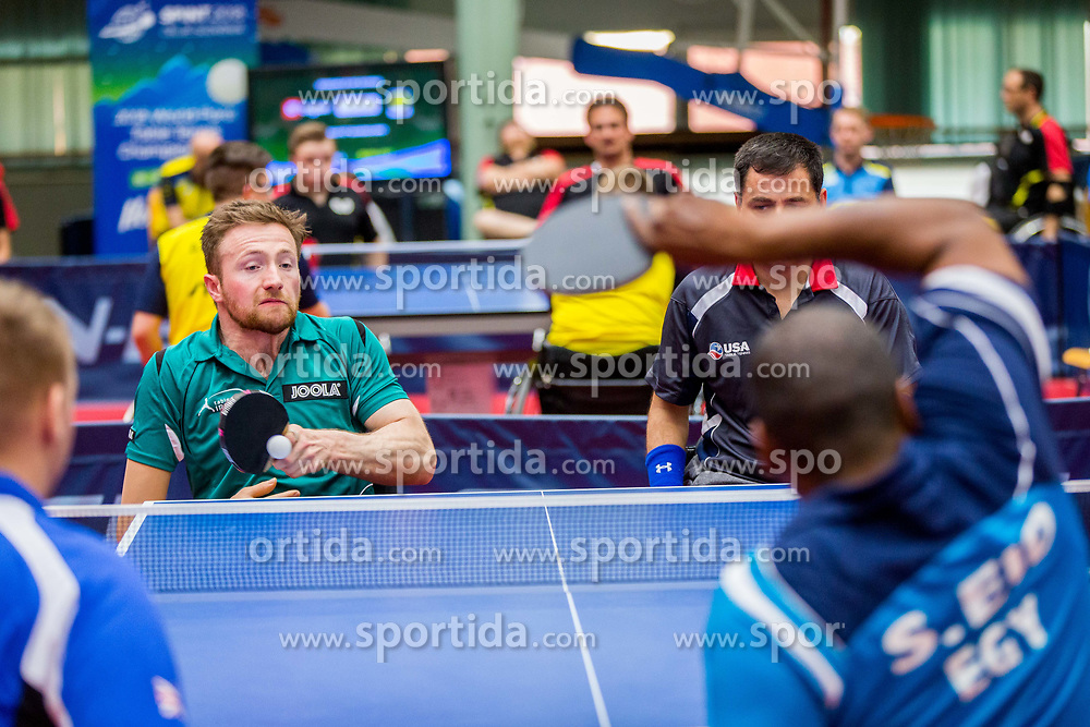 (Team IRL) JUDGE Colin and SARAND Ahad Bakhshaei in action during 15th Slovenia Open - Thermana Lasko 2018 Table Tennis for the Disabled, on May 10, 2018 in Dvorana Tri Lilije, Lasko, Slovenia. Photo by Ziga Zupan / Sportida