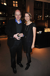ALAIN & CHARLOTTE DE BOTTON at a party to celebrate the launch of Simon Sebag-Montefiore's new book - 'Jerusalem: The Biography' held at Asprey, 167 New Bond Street, London on 26th January 2011.