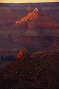 The majesty of the Grand Canyon as seen from the South Rim, not far from the Bright Angel Trailhead.