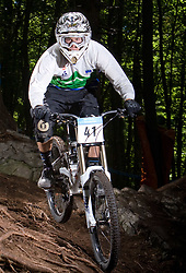Nejc Rutar (SLO) of Elite Men category at MTB Downhill European Championships, on June 14, 2009, at Kranjska Gora, Slovenia. (Photo by Vid Ponikvar / Sportida)