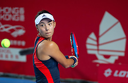 October 12, 2018 - Hong Kong, Hong Kong SAR, China - Wang Qiang (pictured) of China in action against Elina Svitolina of the Ukraine in the quarter finals of the  Hong Kong Tennis Open in Victoria Park Hong Kong. (Credit Image: © Jayne Russell/ZUMA Wire)