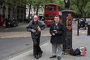 Bus spotters, The Aldwych. London. 16 May 2018