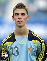 Fussball International U17 WM Korea  Honduras - Spanien Honduras - Spain David de Gea (ESP)