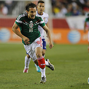 Andrés Guardado, Mexico, in action during the Portugal V Mexico International Friendly match in preparation for the 2014 FIFA World Cup in Brazil. Gillette Stadium, Boston (Foxborough), Massachusetts, USA. 6th June 2014. Photo Tim Clayton