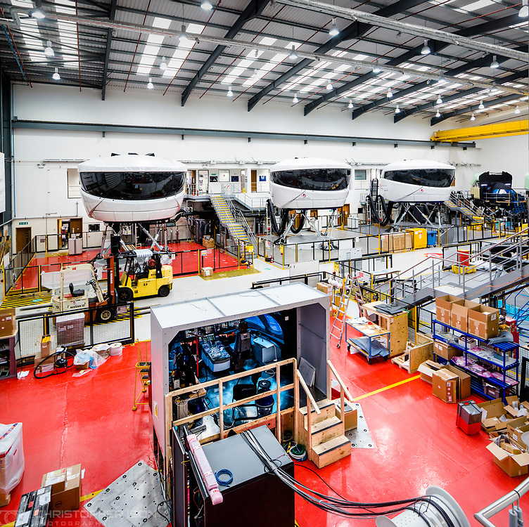 Views of the Simulator Hall at L3 in Crawley.<br /> Picture date: Wednesday March 29, 2017.<br /> Photograph by Christopher Ison &copy;<br /> 07544044177<br /> chris@christopherison.com<br /> www.christopherison.com
