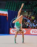 Melitina Staniouta atleta Bielorussa in forza alla società Armonia D'Abruzzo durante la prova di Desio del Campionato Italiano di Ginnastica Ritmica.<br /> La gara si è svolta il 31 ottobre 2015.
