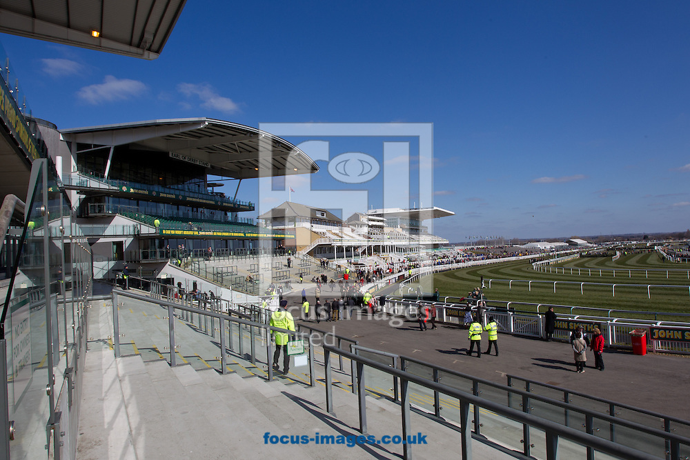 Picture by Michael Sedgwick/Focus Images Ltd +44 7900 363072.06/04/2013.General view of the Aintree Racecourse prior to the Grand National, Liverpool, England.