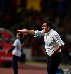 Belgium's coach Marc Wilmots reacts during a friendly soccer match betweem Portugal and Belgium in preparation for Euro 2016 in France at Leiria Municipal Stadium, Portugal, on March 29, 2016. Portugal won 2-1. EXPA Pictures © 2016, PhotoCredit: EXPA/ Photoshot/ Zhang Liyun<br /> <br /> *****ATTENTION - for AUT, SLO, CRO, SRB, BIH, MAZ, SUI only*****