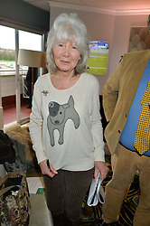 JILLY COOPER at the 2015 Hennessy Gold Cup held at Newbury Racecourse, Berkshire on 28th November 2015.