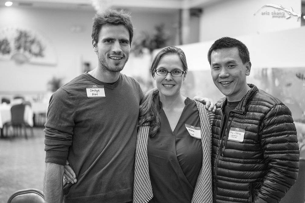 Christoph Kostall and Jelena Jovanovic of Nixie, and Eric Cheng, DJI